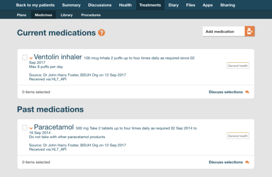 Medications UI