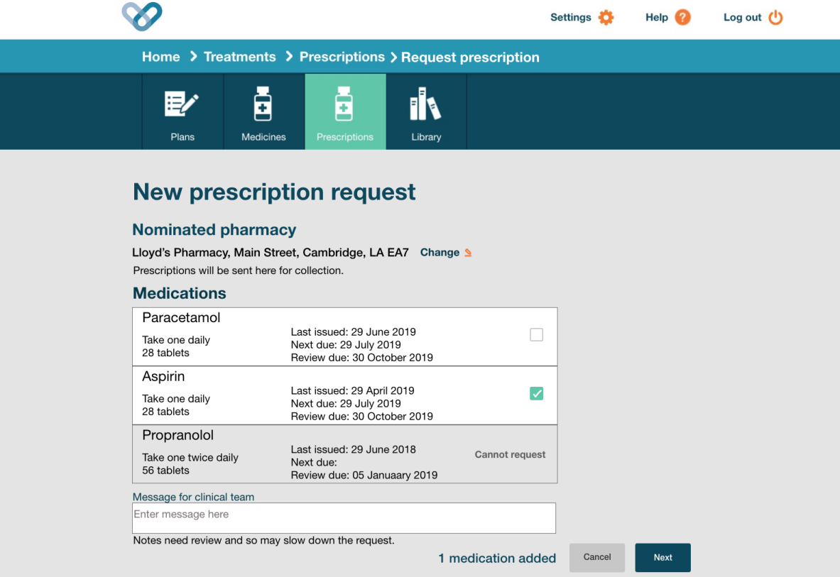 Choose medication