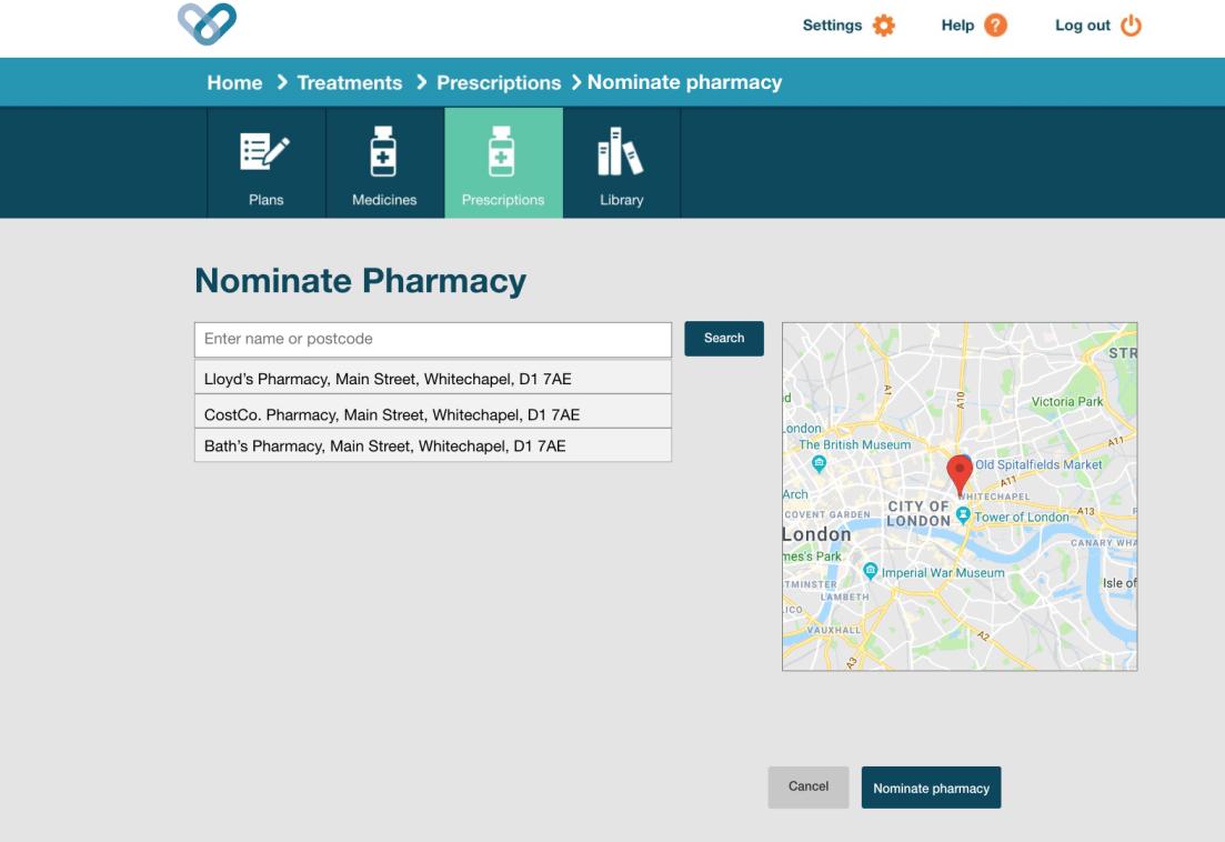 Nominate pharmacy