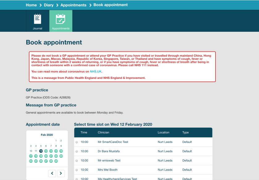Book-Appointment-Coronavirus-Message